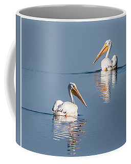 Coffee Mug featuring the photograph White Pelicans by Patti Deters