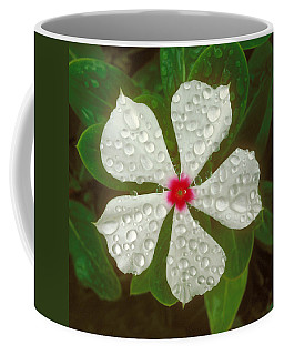 Coffee Mug featuring the photograph White Periwinkle by Mark Greenberg