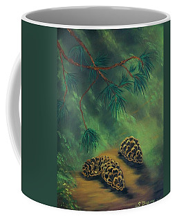 White Pine  And Cones Coffee Mug