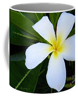 White Plumeria Coffee Mug by Anthony Fishburne