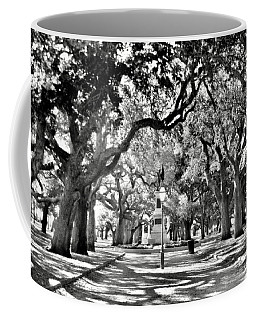 White Point Gardens At Battery Park Charleston Sc Black And White Coffee Mug