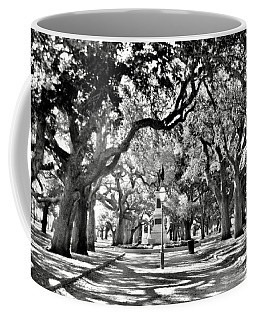 White Point Gardens At Battery Park Charleston Sc Black And White Coffee Mug