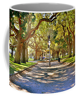 Coffee Mug featuring the photograph White Point Gardens At Battery Park Charleston Sc Hdr by Lisa Wooten