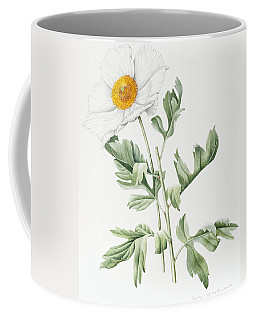 White Poppy Coffee Mug