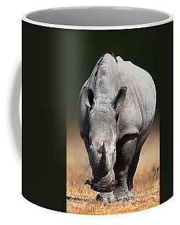 White Rhinoceros  Front View Coffee Mug