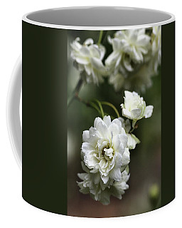 Coffee Mug featuring the photograph White Roses by Joy Watson