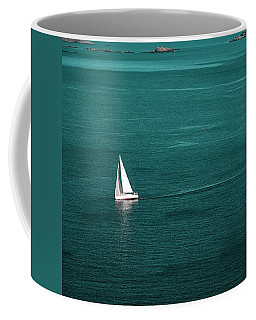 White Sailboat Coffee Mug