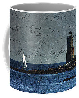 Coffee Mug featuring the photograph White Sails On Blue  by Jeff Folger