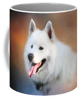 White Samoyed Portrait Coffee Mug