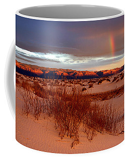 Coffee Mug featuring the photograph White Sands Sunset by Christopher McKenzie