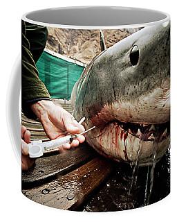 White Shark Blood Sample Extraction Coffee Mug