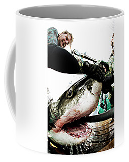White Shark Gill Aeration Coffee Mug