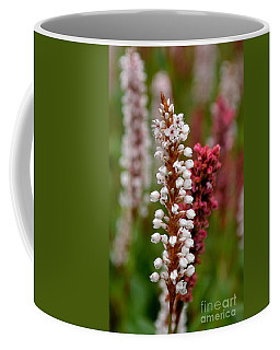 White Stalk Flower Coffee Mug