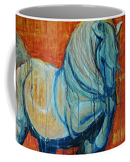 White Stallion Coffee Mug by Jani Freimann