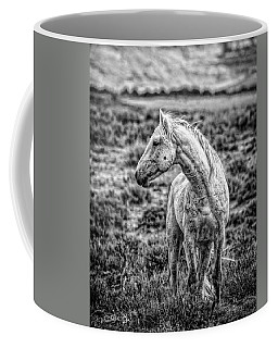 White Stallion Watching Coffee Mug