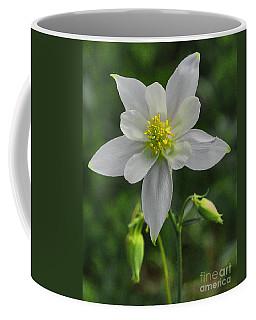Coffee Mug featuring the digital art White Star Flower by Mae Wertz