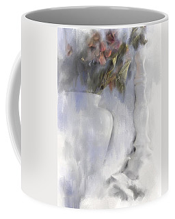 White Still Life Vase And Candlestick Coffee Mug
