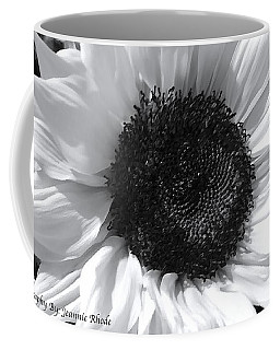 Coffee Mug featuring the photograph White Sunflower by Jeannie Rhode