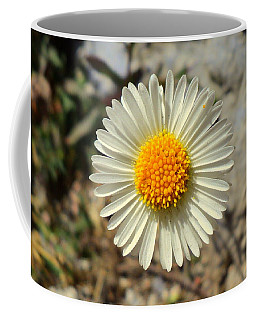 White Wild Flower Coffee Mug by Salman Ravish
