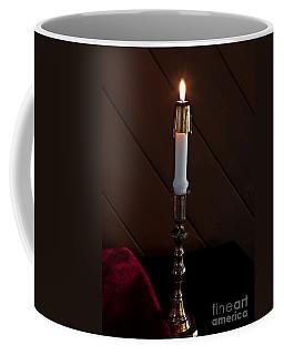 White Taper Candle Lit Art Prints Coffee Mug
