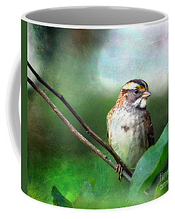White-throated Sparrow Coffee Mug by Kerri Farley