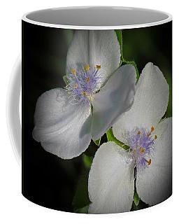 White Tradescantia Pair Coffee Mug