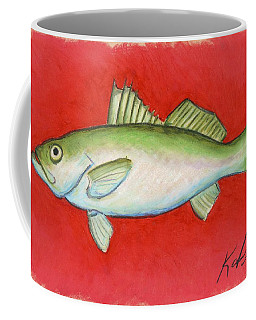 White Trout Coffee Mug