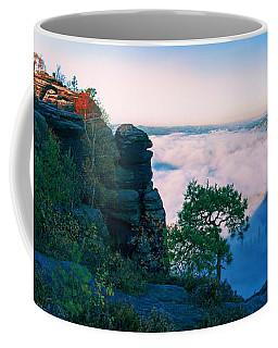 White Wafts Of Mist Around The Lilienstein Coffee Mug