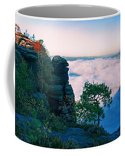 White Wafts Of Mist Around The Lilienstein Coffee Mug