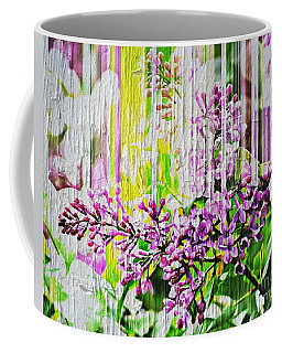 Coffee Mug featuring the photograph White Washed Painted Lilac by Judy Palkimas