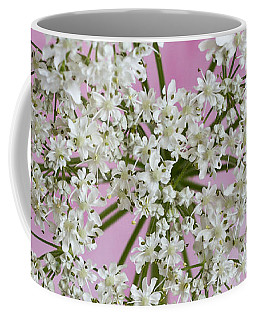 Coffee Mug featuring the photograph White Wild Cow Parsnip Flower by Sandra Foster