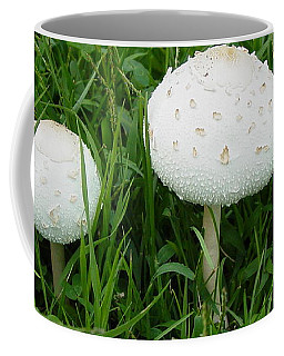 White Wild Mushrooms Coffee Mug