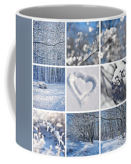 White Winter Coffee Mug by Delphimages Photo Creations