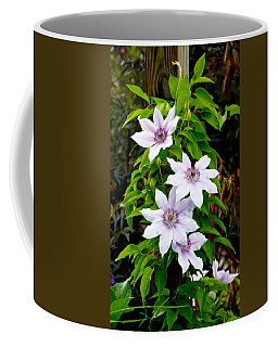 White With Purple Flowers 2 Coffee Mug