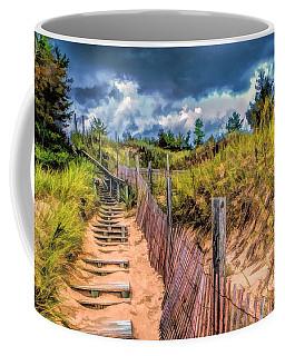 Whitefish Dunes State Park Stairs Coffee Mug