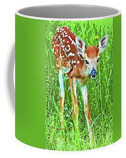 Whitetailed Deer Fawn Digital Image Coffee Mug