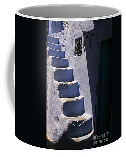 Whitewashed Steps In The Medina Of Asilah On Northwest Tip Of Atlantic Coast Of Morocco Coffee Mug by Ralph A  Ledergerber-Photography