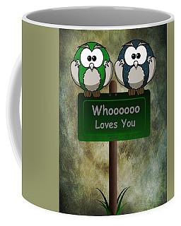 Whoooo Loves You  Coffee Mug by David Dehner