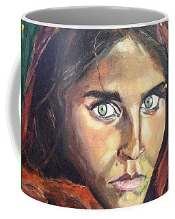 Coffee Mug featuring the painting Who's That Girl? by Belinda Low