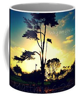 Why R U Anxious Coffee Mug by Sharon Soberon