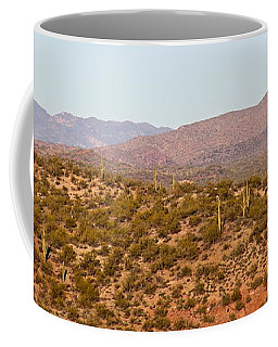 Wickenburg Mountains Coffee Mug by Suzanne Oesterling