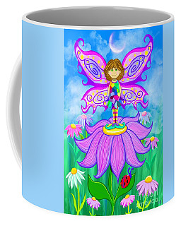 Coffee Mug featuring the painting Wild Flower Fairy  by Nick Gustafson