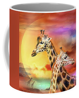 Wild Generations - Giraffes  Coffee Mug by Carol Cavalaris