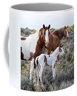 Wild Horse Family Portrait Coffee Mug