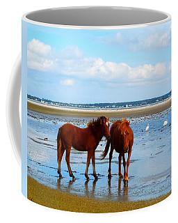 Wild Horses And Ibis 2 Coffee Mug