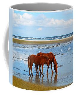 Wild Horses And Ibis Coffee Mug