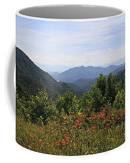 Wild Lilies With A Mountain View Coffee Mug