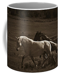 Coffee Mug featuring the photograph Wild Mustangs Of New Mexico 10 by Catherine Sobredo