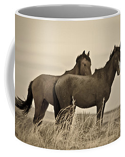 Coffee Mug featuring the photograph Wild Mustangs Of New Mexico 3 by Catherine Sobredo