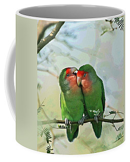 Wild Peach Face Love Bird Whispers Coffee Mug